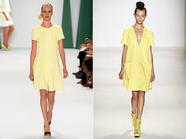 Fashion Trends Summer 2021 Yellow Short Sleeve Dresses