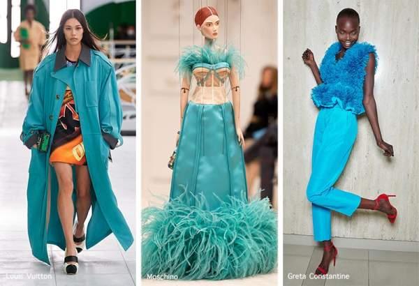Fashionable color according to Pantone - Blue Atoll
