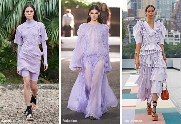 Dresses in soft purple color