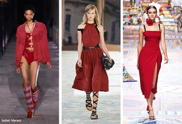 A trendy shade of red Lava Falls Red