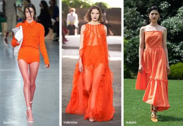 Bright orange - trending color 2021