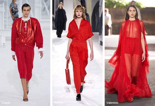 Bright red will be in vogue in spring 2021