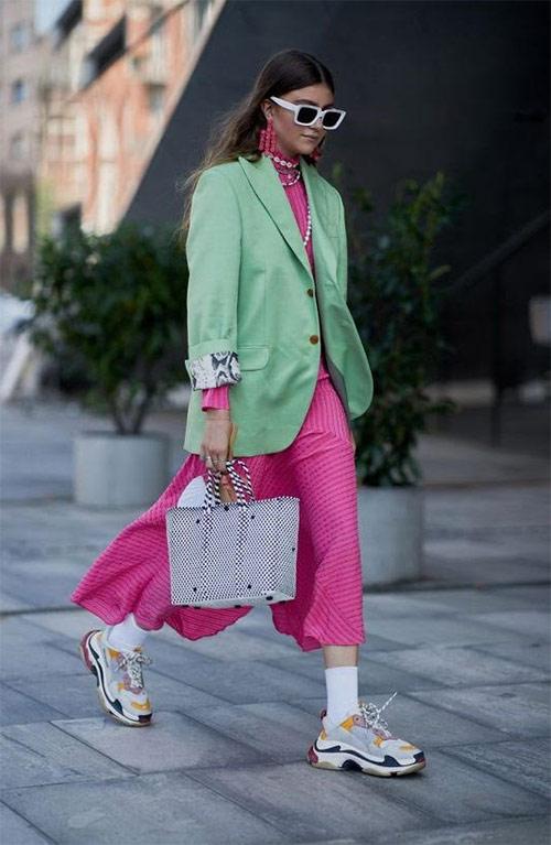 90s Sneakers, Silk Dress & Jacket