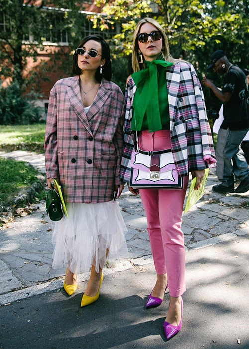 Checkered jacket - accent images