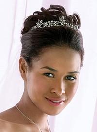 diadem in wedding hairstyle