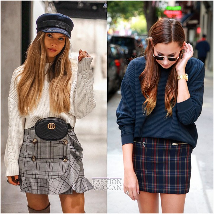 With what to wear a skirt in a cage: ideas for a note photo # 18