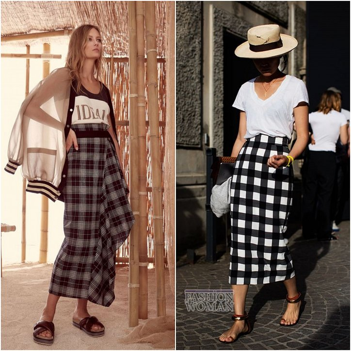 With what to wear a skirt in a cage: ideas for a note photo №16