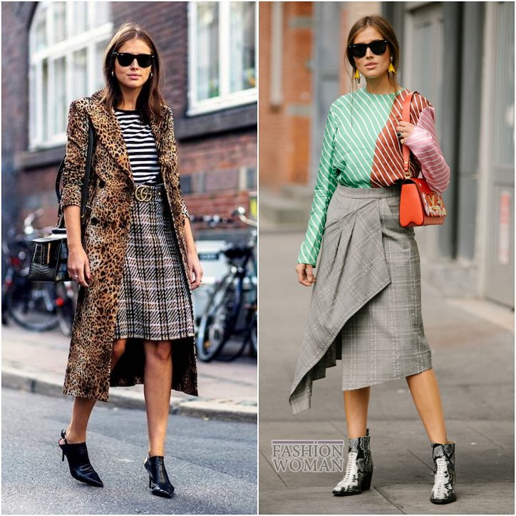 With what to wear a skirt in a cage: ideas for a note photo # 21