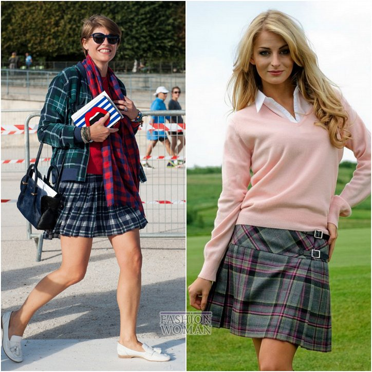 With what to wear a skirt in a cage: ideas for a note photo # 25