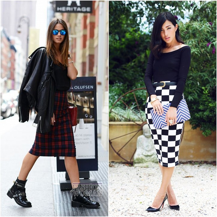 With what to wear a skirt in a cage: ideas for a note photo №23
