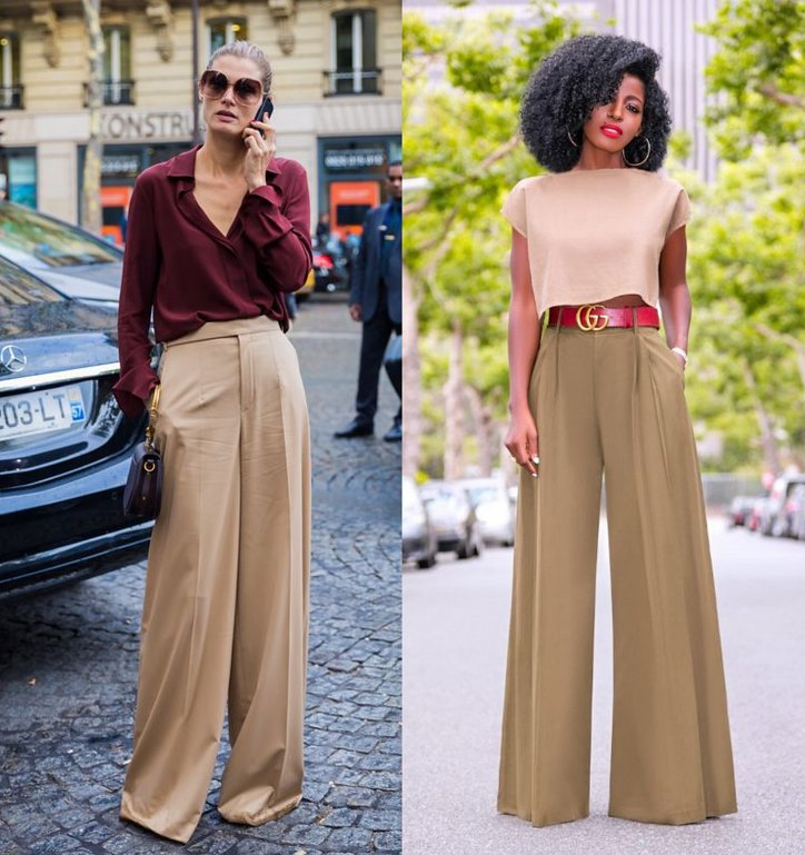 With what to wear palazzo pants: fashionable image ideas photo # 2