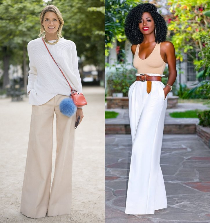 With what to wear palazzo pants: fashionable image ideas photo №10