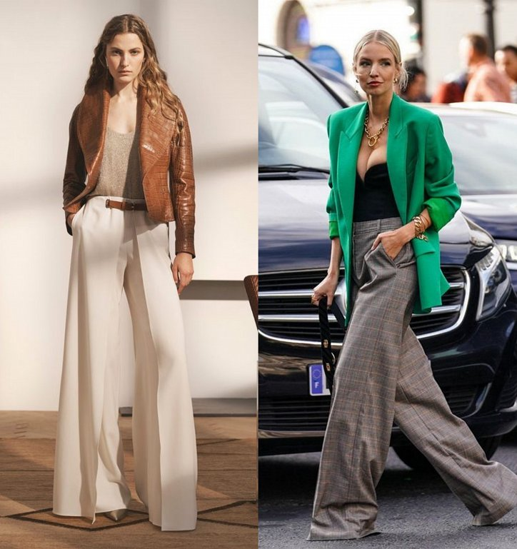 With what to wear palazzo pants: fashionable image ideas photo №6