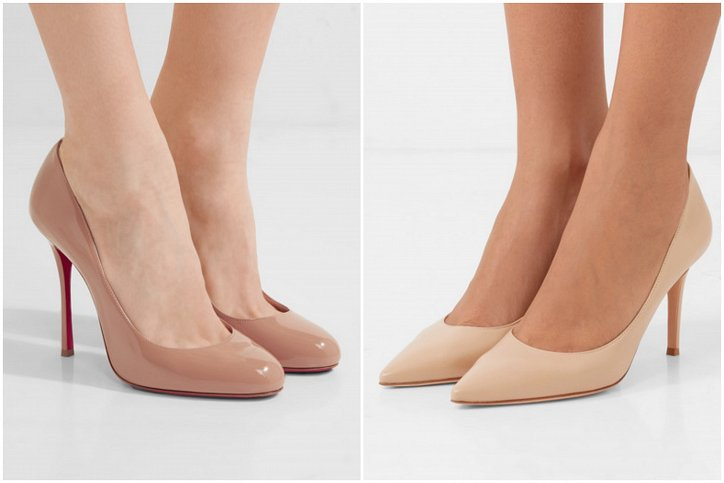Beige high heel shoes - a must-have wardrobe photo # 8
