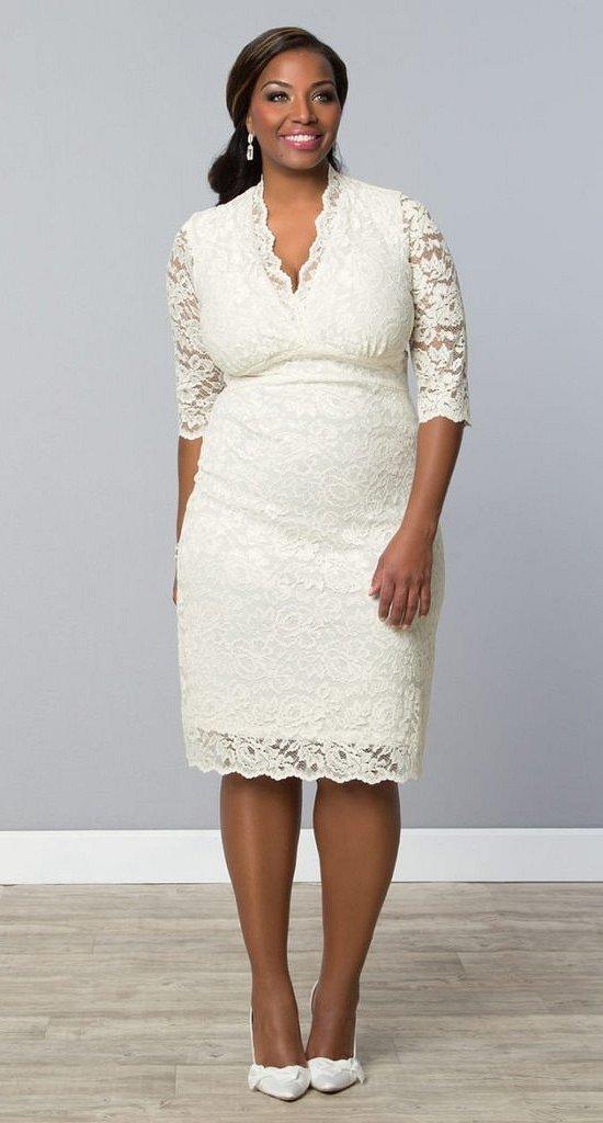 Wedding dresses for fat brides photo # 10