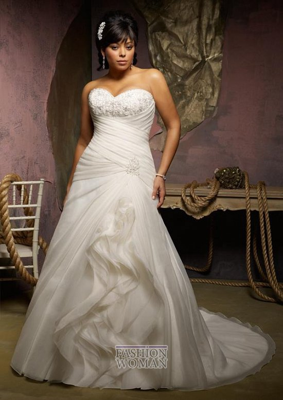 Wedding dresses for fat brides photo # 32