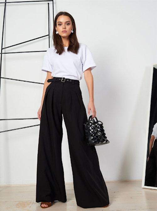 Wide leg pants for women
