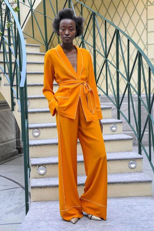 Orange Pajama Suit