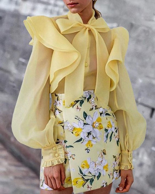 New for summer: chiffon blouse