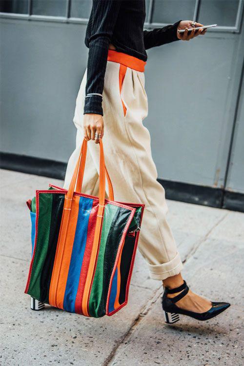Summer printed tote bag
