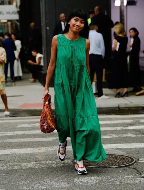 Emerald green maxi dress 2021