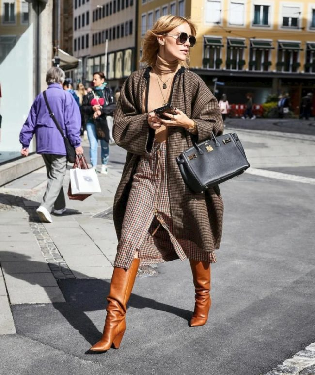 brown stylish boots