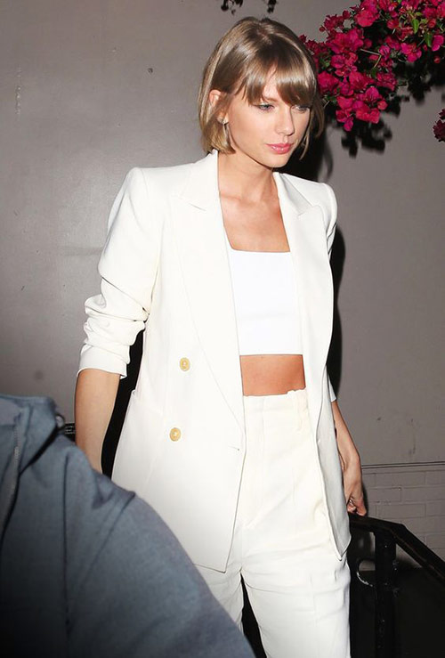White crop top and white summer suit