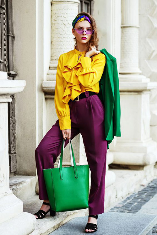 Yellow, purple and green are a great combination