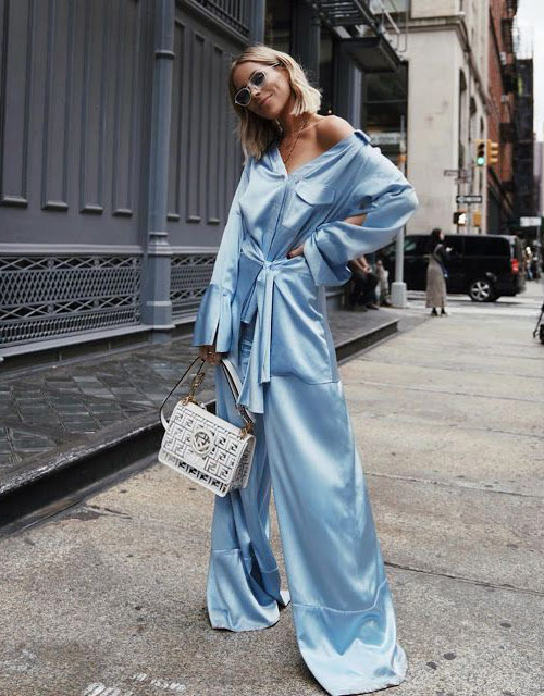 Silk Pajama Style Suit for Fashion Summer 2021