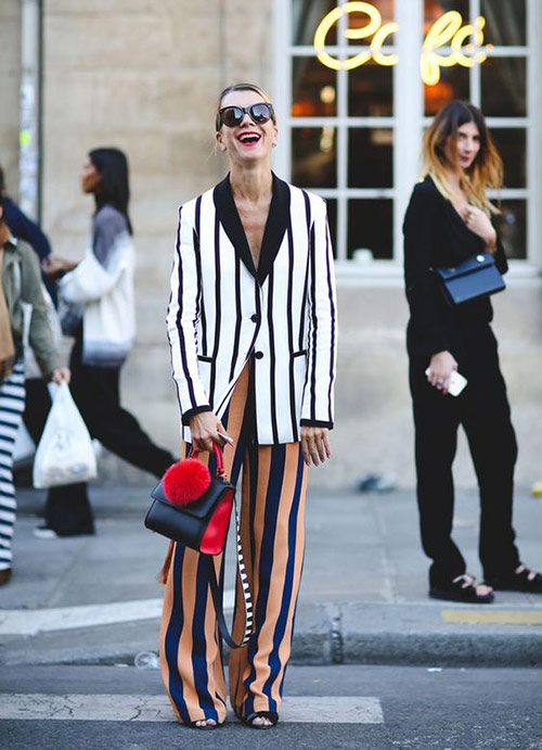 Summer striped suit