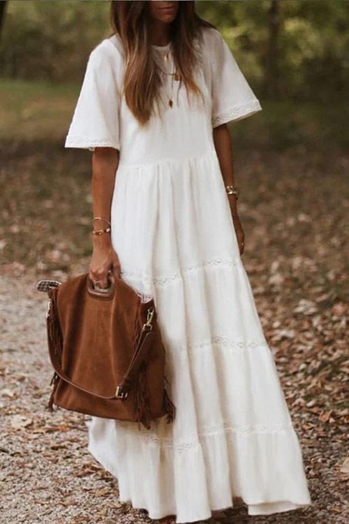 Oversized white maxi dress