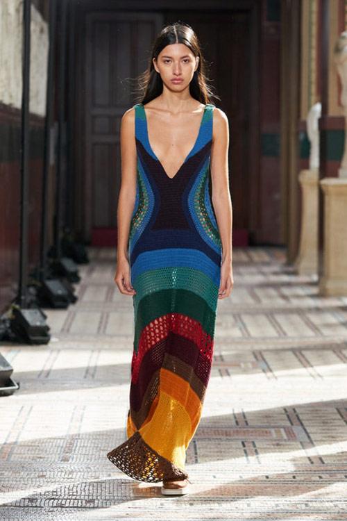 Openwork summer maxi dress in fashion in summer 2021