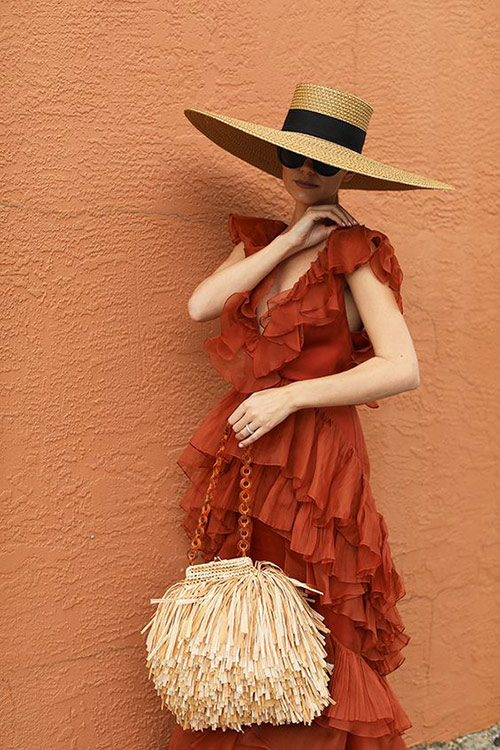Fashionable chiffon dress for summer 2021