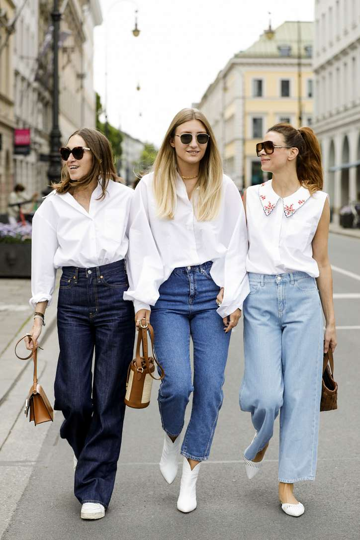 How to wear a white shirt: 10 fashionable images photo # 1