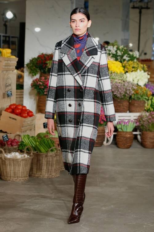 Fashion coats 2021 2022 trend classic plaid coat