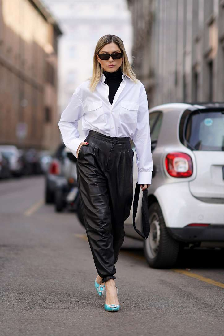 How to wear a white shirt: 10 fashionable images photo # 3