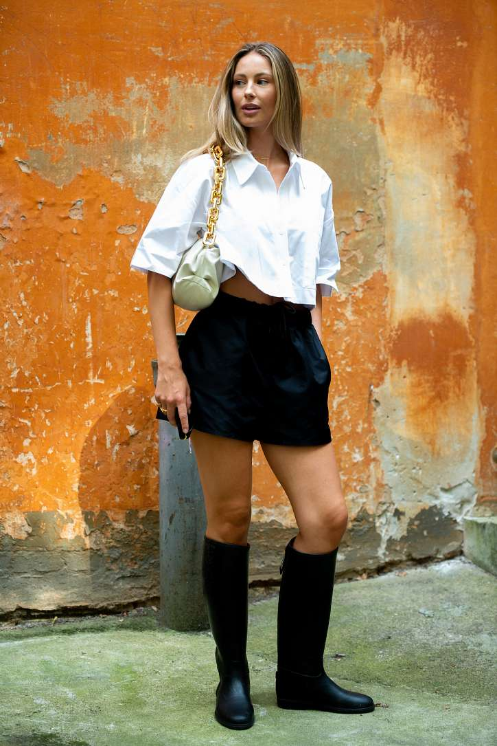 How to wear a white shirt: 10 fashionable images photo # 9