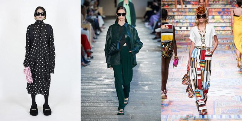 fashionable large black sunglasses for summer 2021