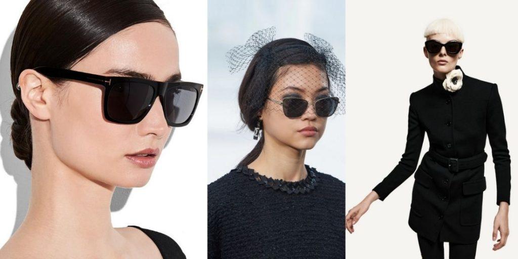fashionable black sunglasses spring-summer 2021