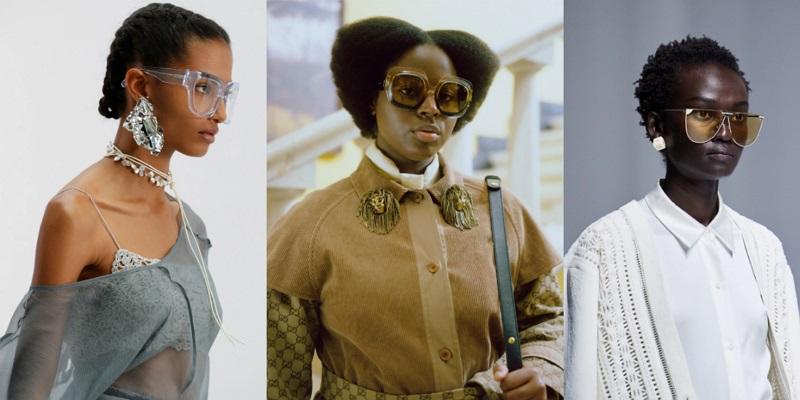 fashionable oversized glasses spring-summer 2021