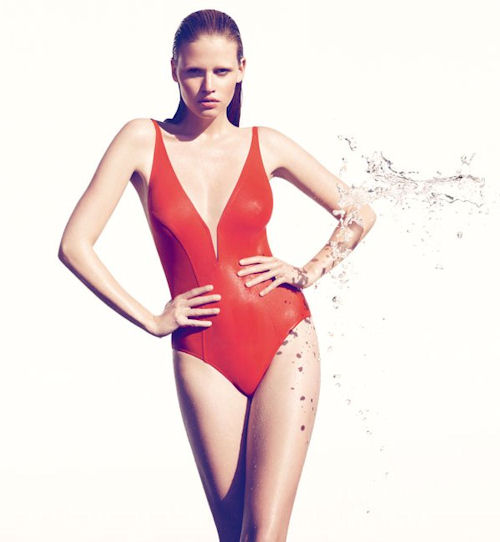Red One Piece Swimsuit by Eres