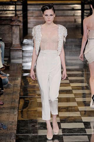 white trousers from Antonio Berardi spring-summer 2010