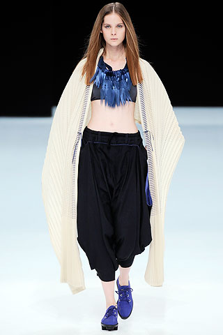 wide trousers by Issey Miyake