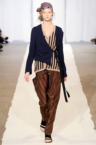 brown trousers by Marni