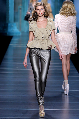 gray skinny pants by Christian Dior