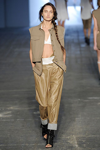 wide leg leather trousers by Alexander Wang