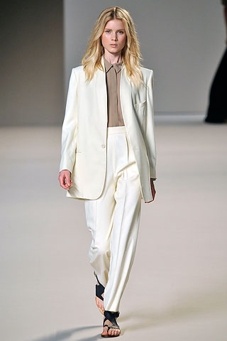 white classic suit by Chloé