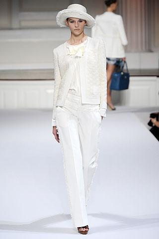 White Dress Pants by Oscar de la Renta