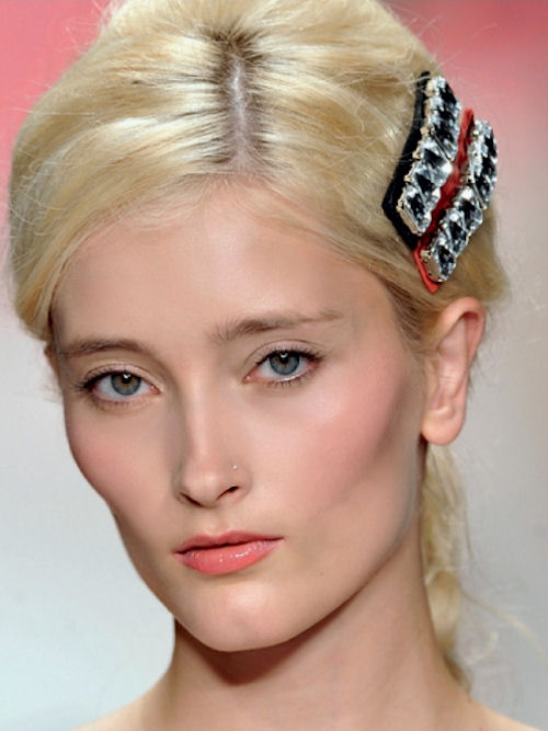 hairpins with stones from Moschino