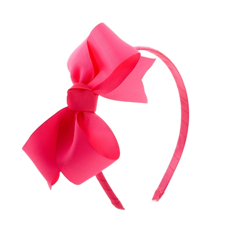 headband with pink bow